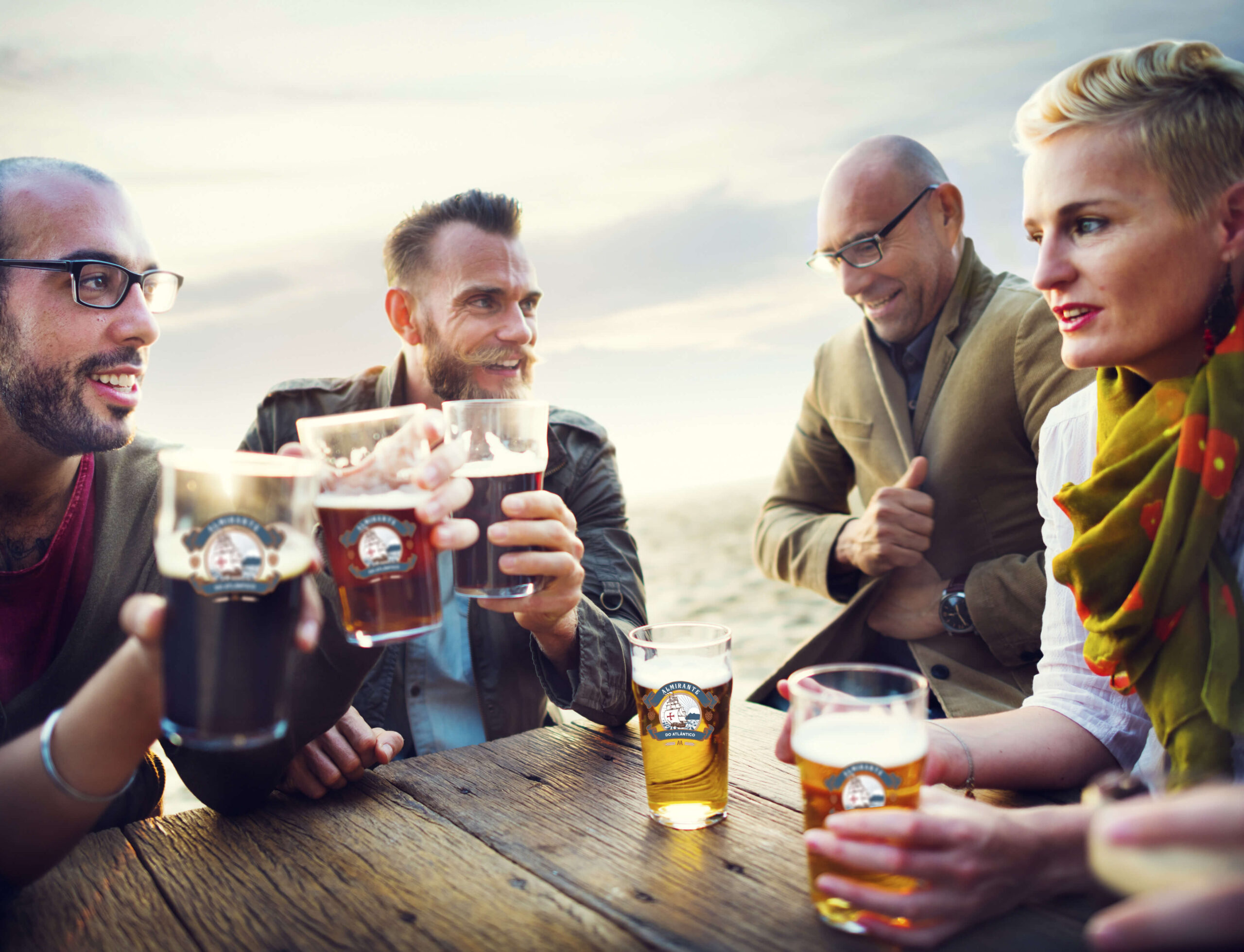 people drinking beer